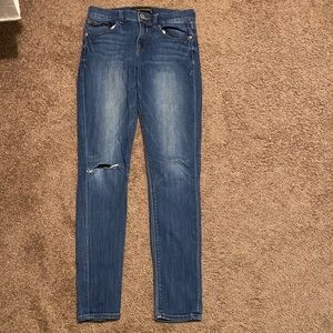 Express Mia mid rise distressed jegging